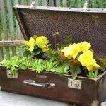 Кашпо из чемодана