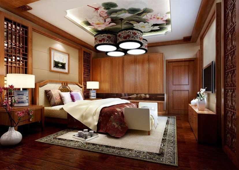 Роскошный потолок в восточном стиле