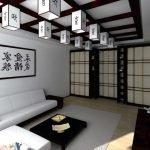 Светлая гостиная в восточном стиле