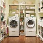 Кладовая с стиральной машинкой