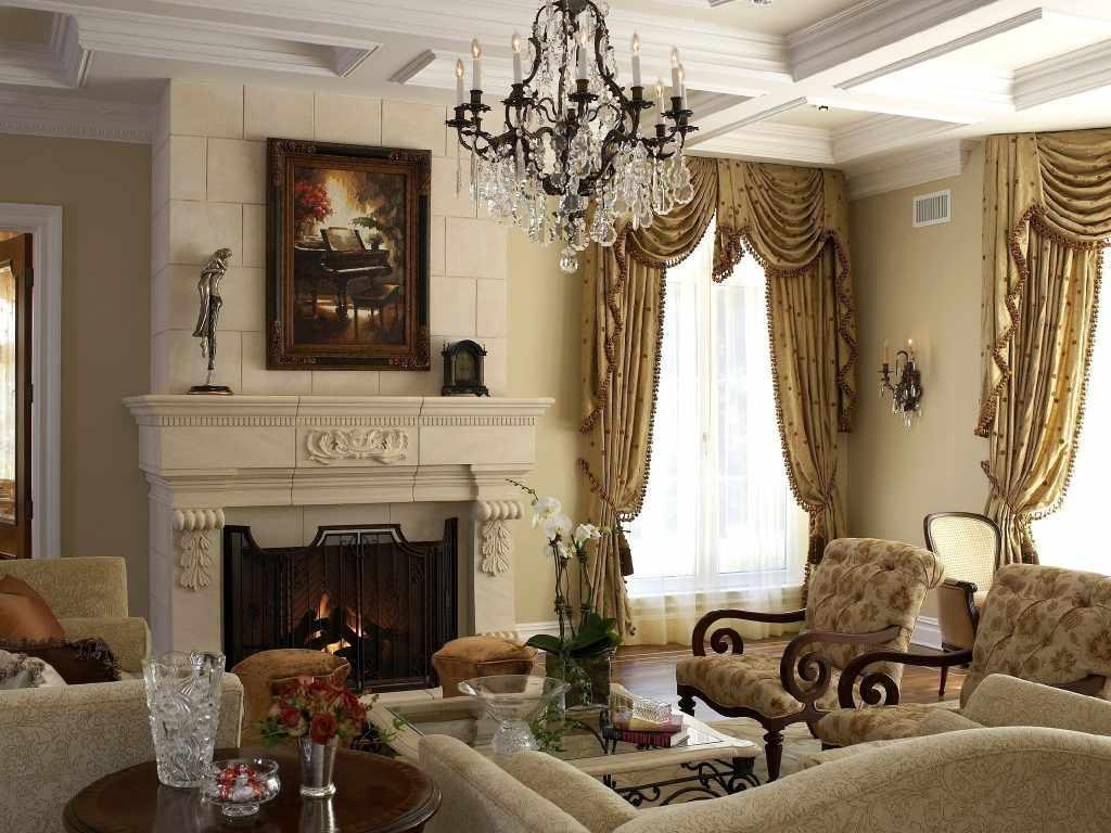 Текстиль в интерьере в стиле классицизм