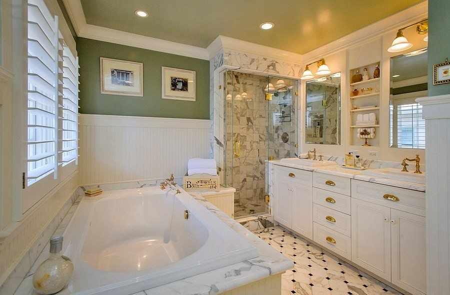 Ванная в стиле классицизм