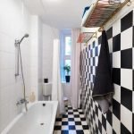 Черно-белая клетка в ванной