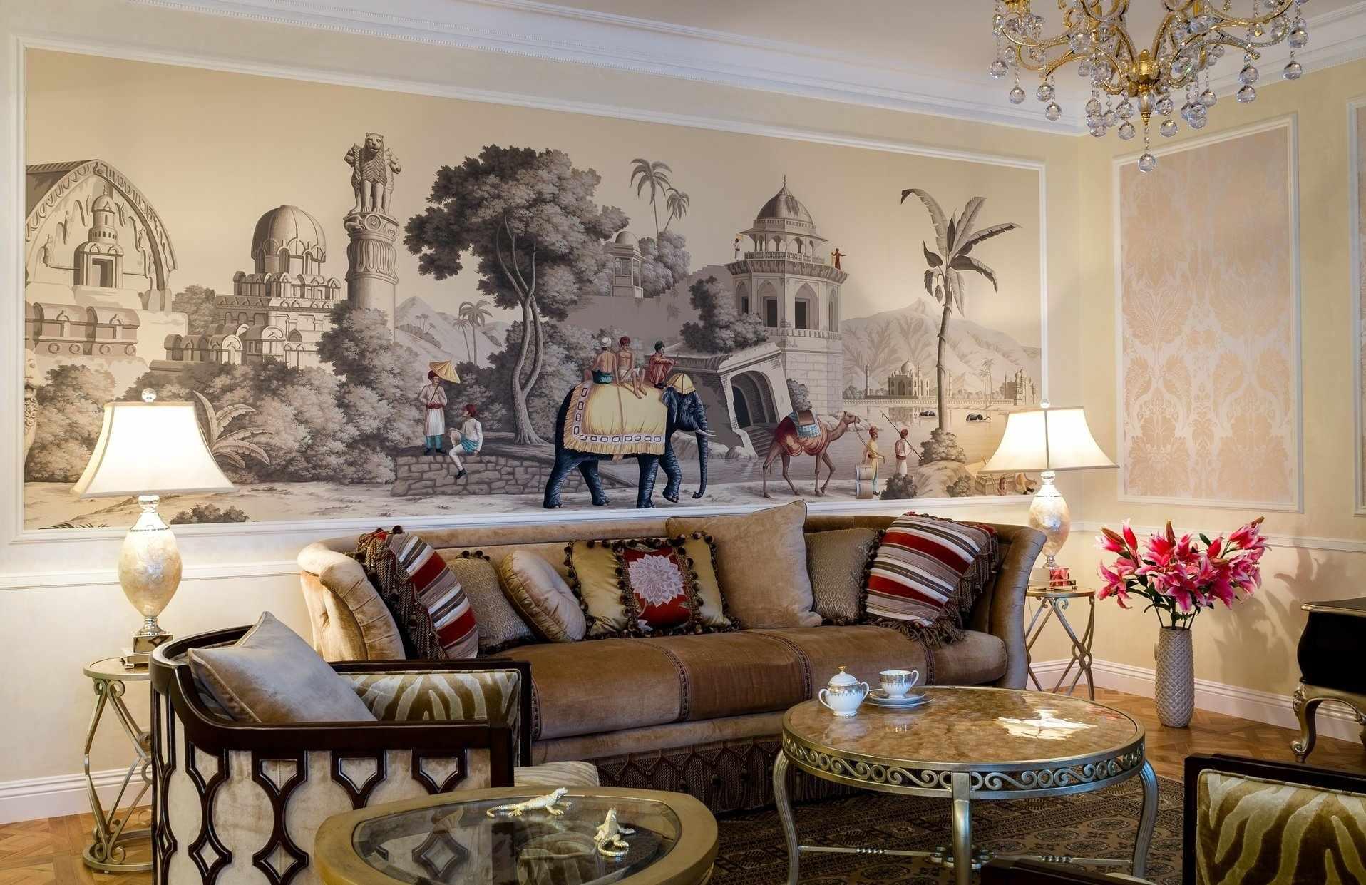 Мебель в интерьере в колониальном стиле
