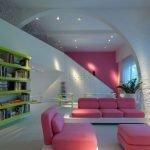 Розовая мебель в интерьере