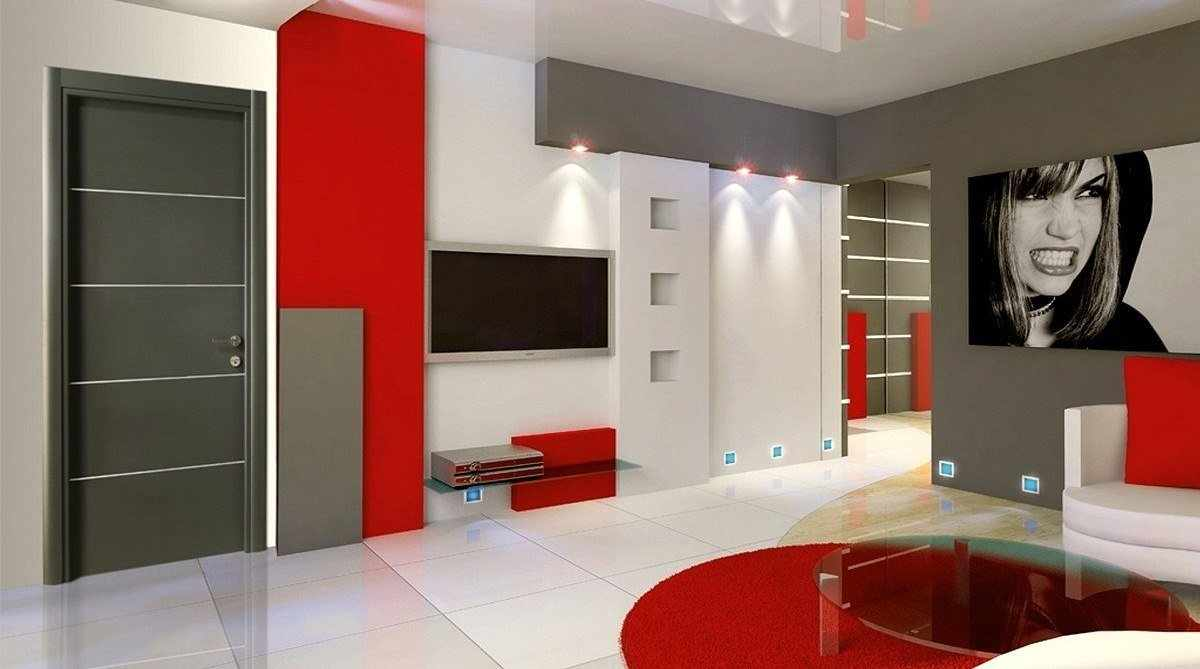 Яркие цвета в интерьере в стиле конструктивизм