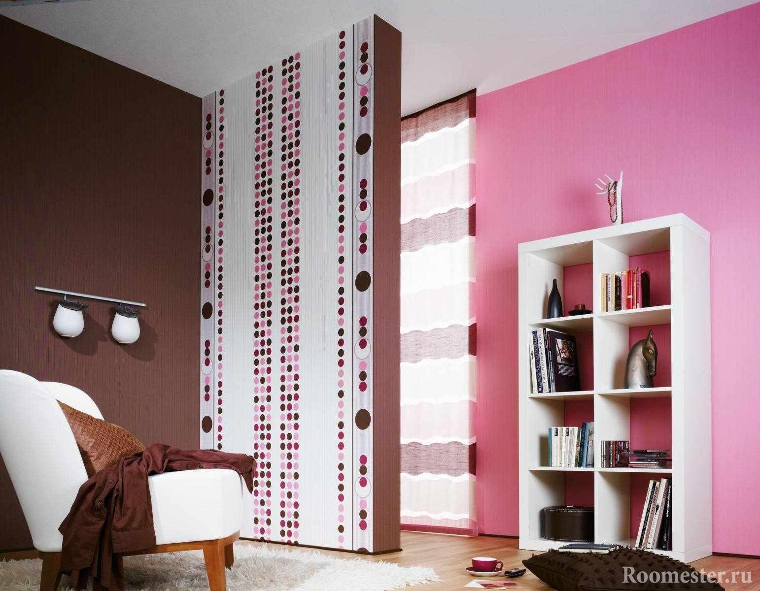 Розовый и коричневый