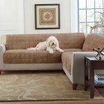 Светло-коричневый диван в зале