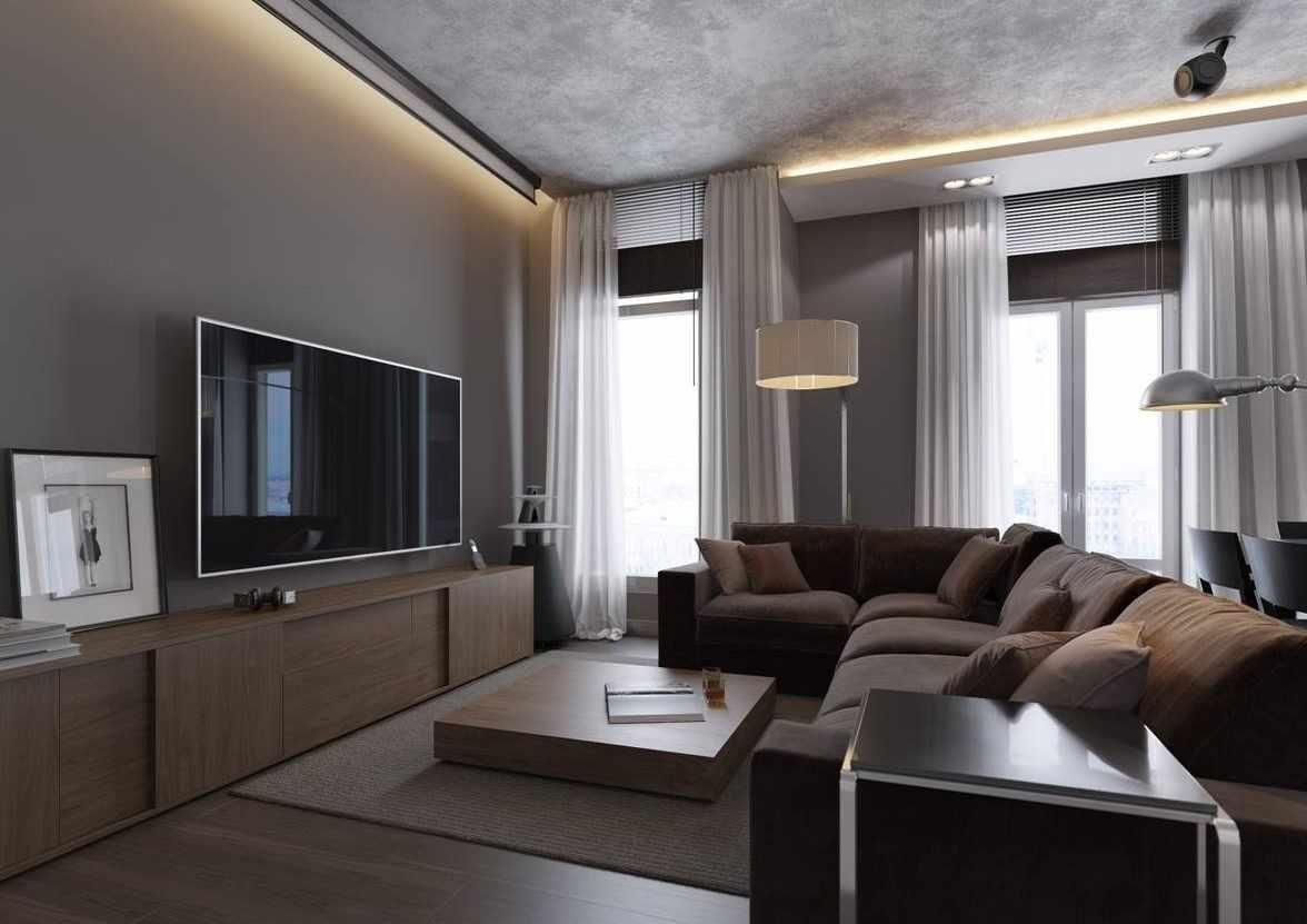 Угловой диван напротив телевизора