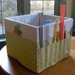 Коробка для хранения принадлежностей для вязания