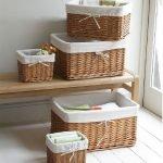 Плетеные коробки для хранения