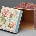 Коробка для хранения в технике декупаж