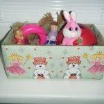 Коробка с детскими игрушками