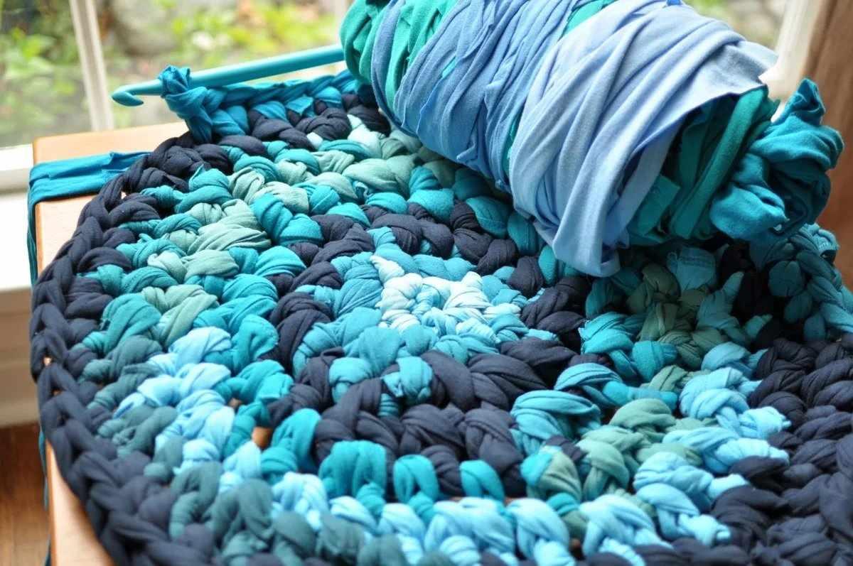 Создание коврика из трикотажной пряжи