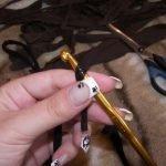 Вяжем цепочку из 5 петель