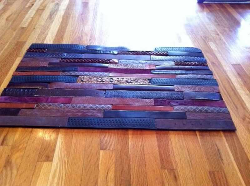 Кожаный коврик из ремней