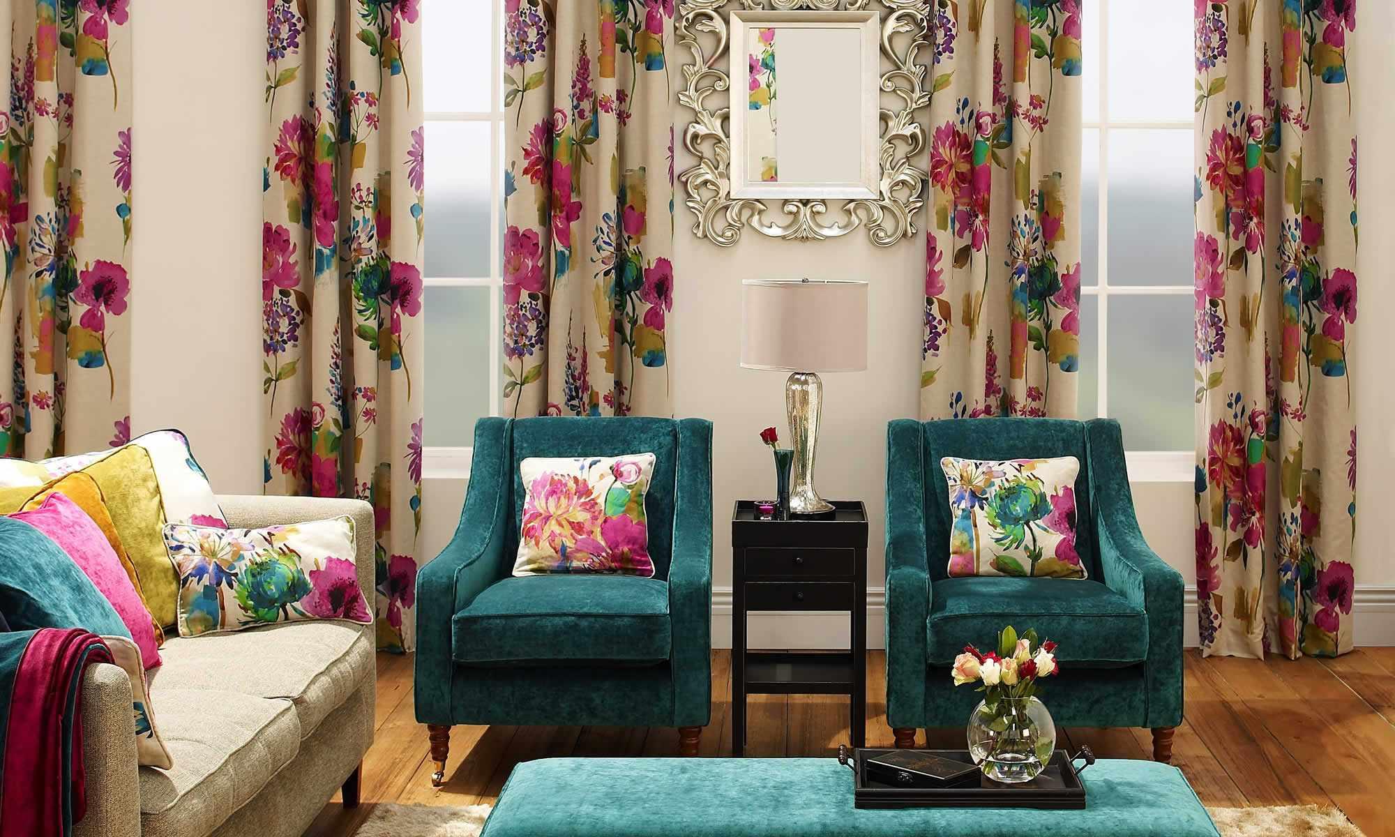 Текстиль в красивом интерьере