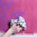 Контрастное окрашивание стен в ванной комнате