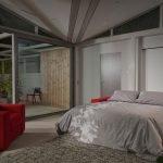 Раскладное кресло-диван в спальне