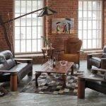 Кресло в интерьере в стиле лофт