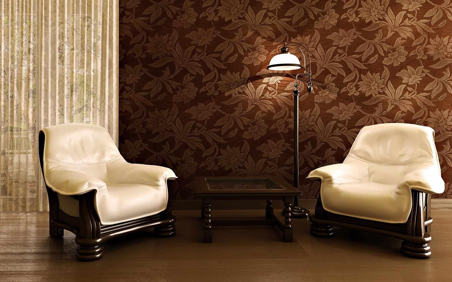 Кожаные кресла в интерьере