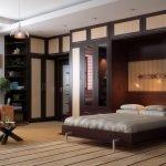 Мебель венге в большой спальне