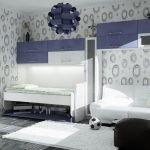 Сине-белая мебель
