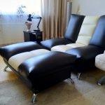 Кожаное кресло-кровать