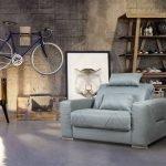 Бирюзовое кресло-кровать