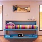 Синяя кровать-трансформер