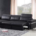 Черный раскладной диван