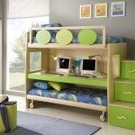 Зеленая мебель в детской