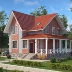 Многощипцовая оранжевая крыша
