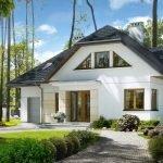 Частный дом белого цвета