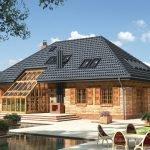 Новый дом с вальмовой крышей