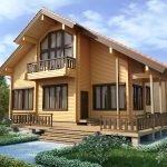 Двухэтажный дом с двускатной крышей