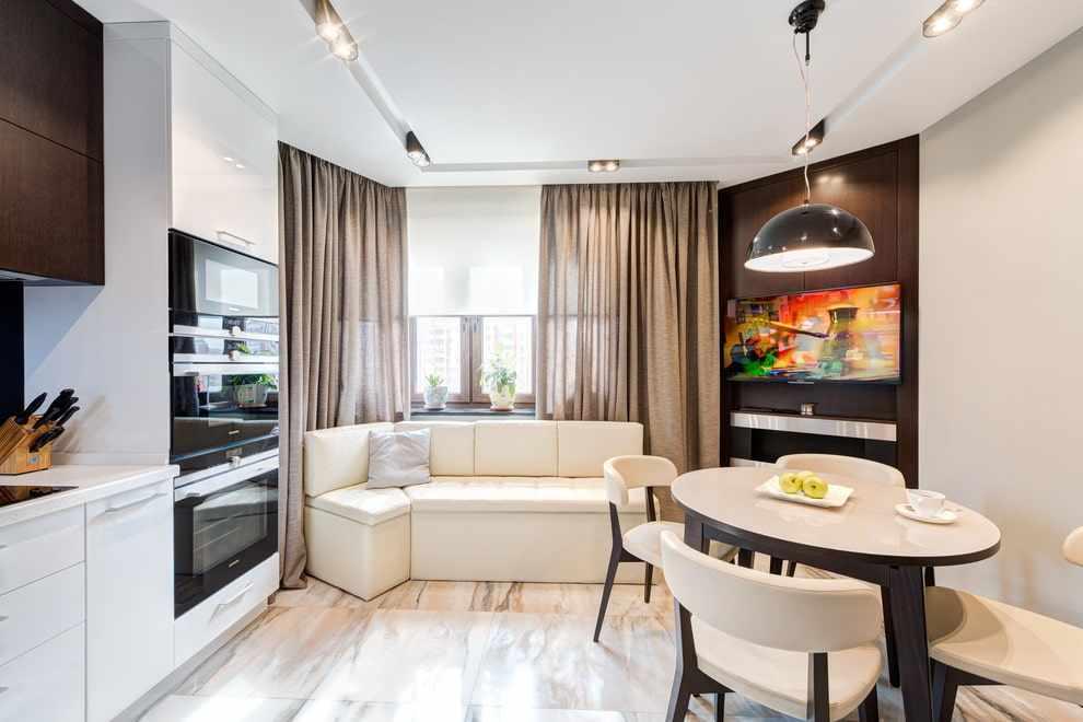 Кухня-гостиная в 12 кв. м.