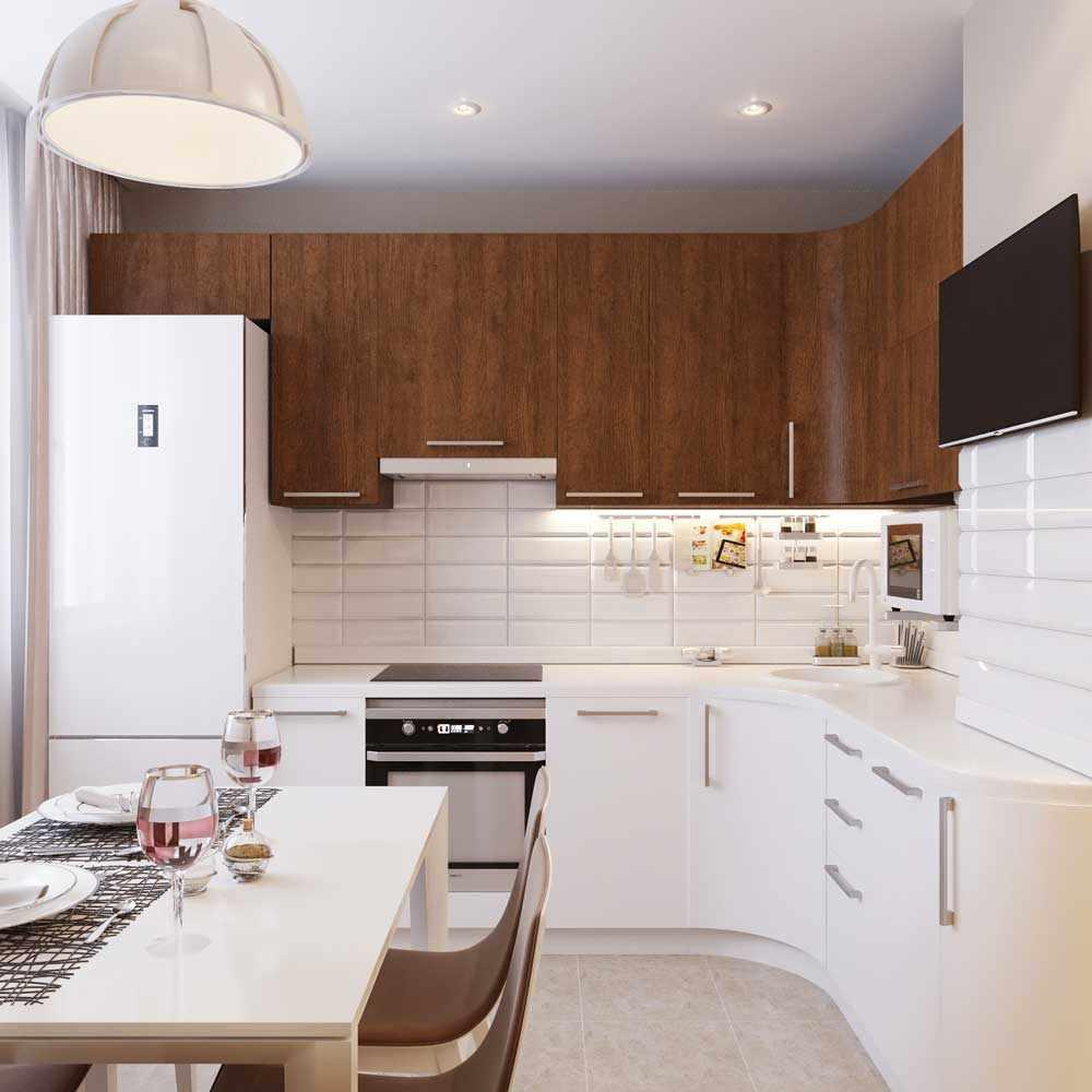 Кухня 12 кв м в стиле модерн