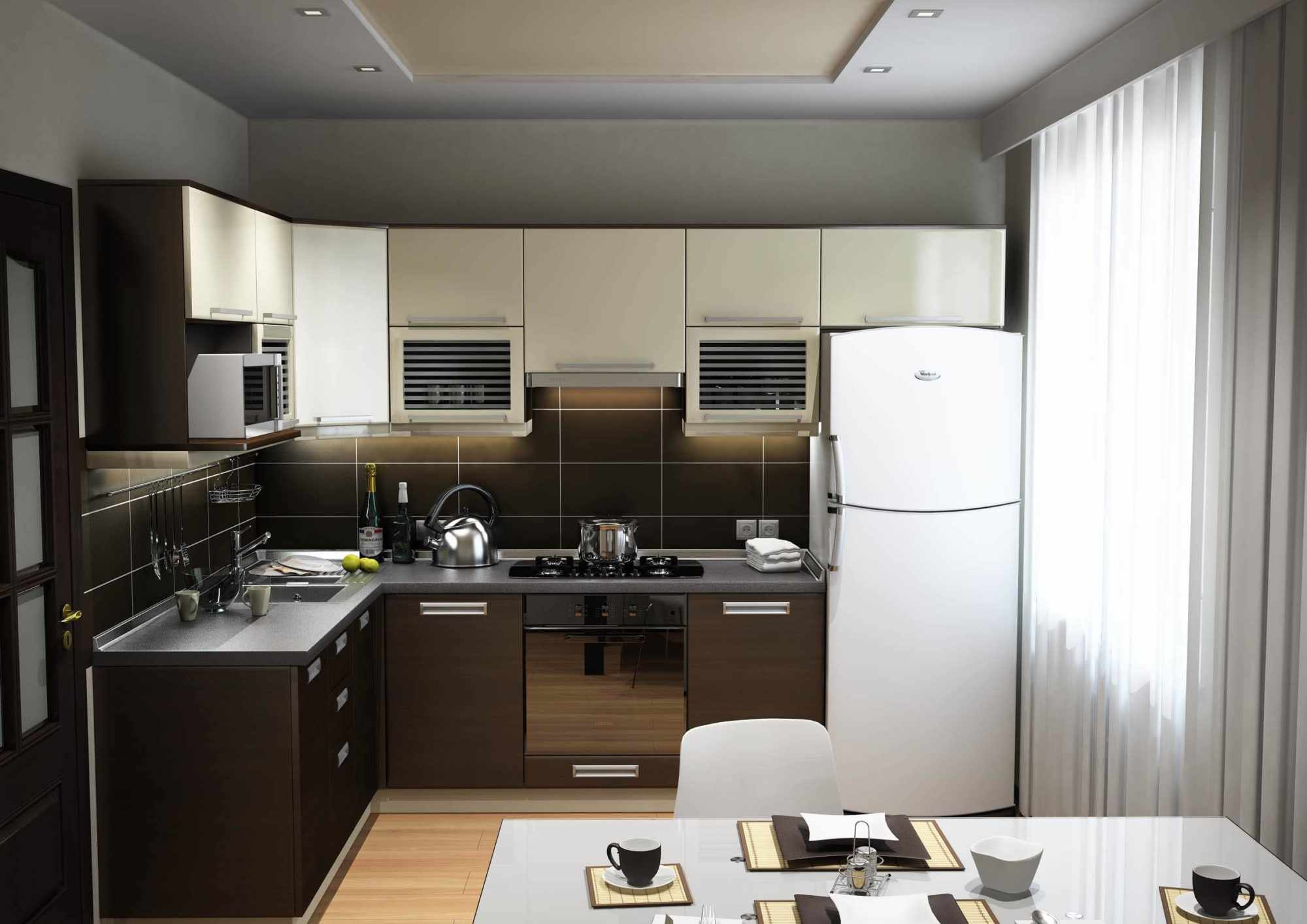 Холодильник у окна