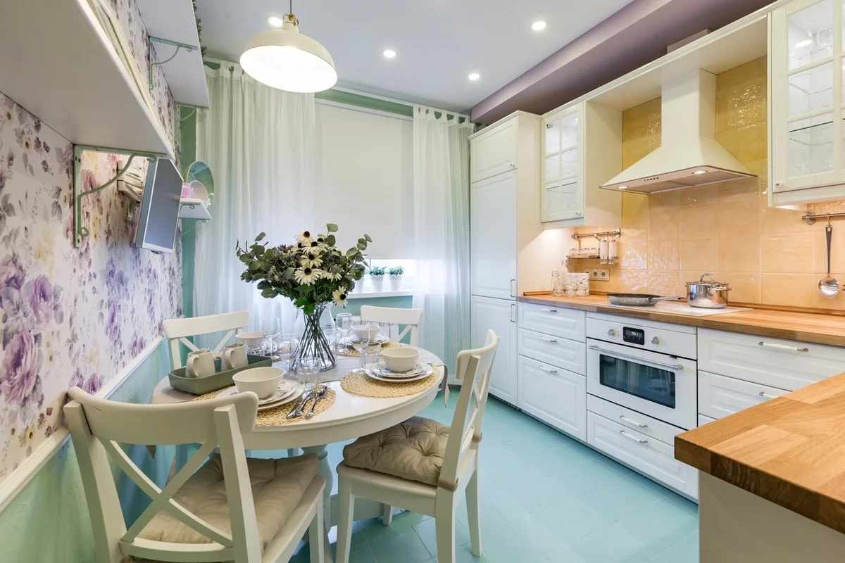 Кухня 12 кв м в стиле прованс