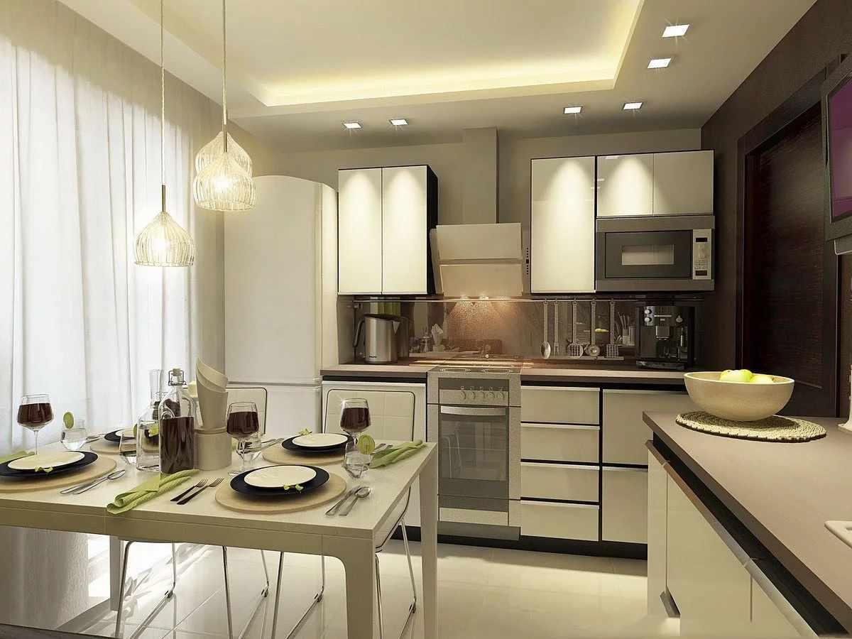 Холодильник на кухне 12 кв м