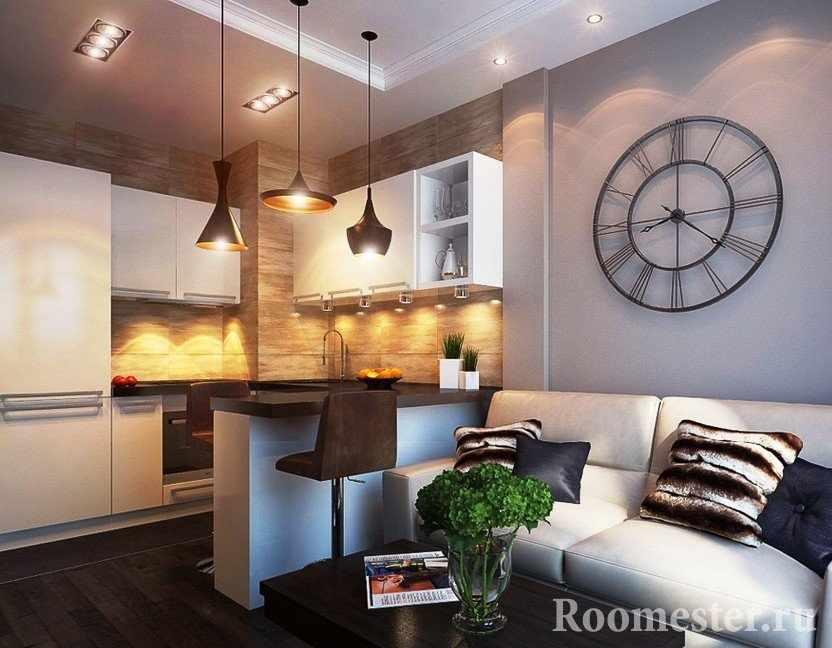 Комната 19 кв.м. с гостиной и кухней