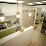 Кухня-прихожая в маленькой квартире