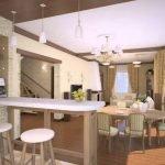 Кухня с прихожей в одной комнате