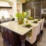 Совмещение кухонного острова и стола