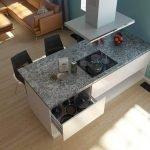 Кухонный остров с панелью