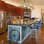 Кухонный остров в стиле лофт