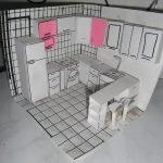 Макет расстановки мебели на кухне