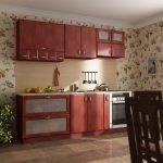 3D- визуализация маленькой кухни