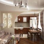 Кухня в хрущевке в пастельных тонах